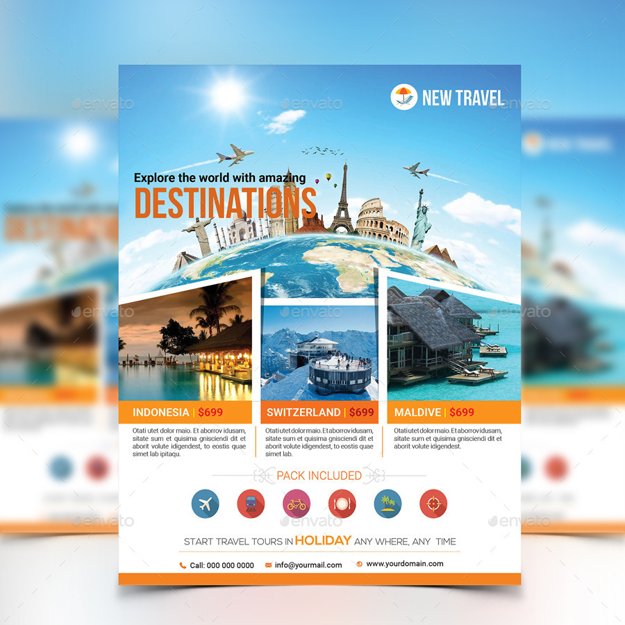 holiday travel tour flyer template by aam360 graphicriver flyer template holidays events · screenshot 1 jpg screenshot 2 jpg