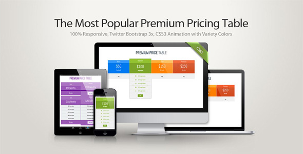 Premium Pricing Table - CodeCanyon Item for Sale