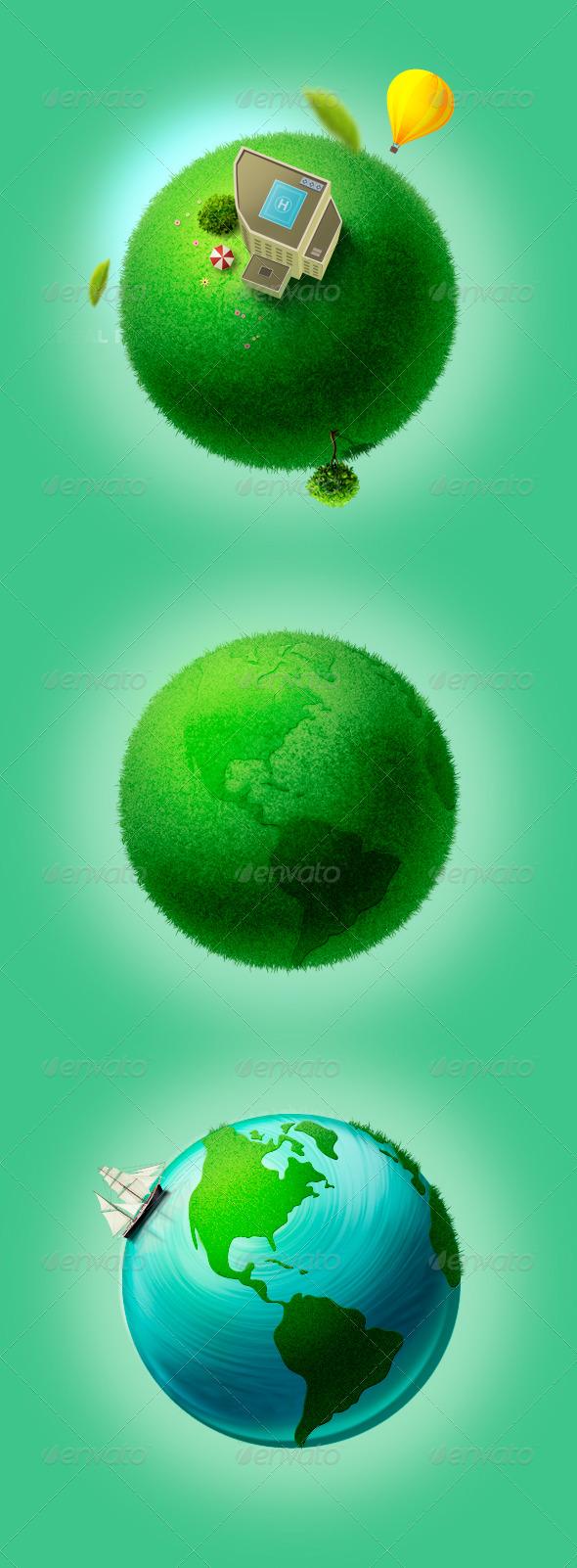 GraphicRiver Earth Concept Set 154280