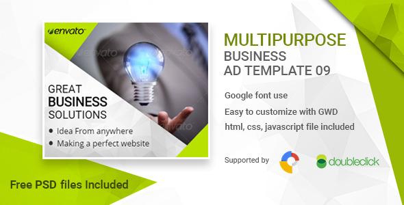 Business   HTML5 Google Banner Ad 09