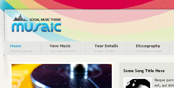 Musaic - Music Theme
