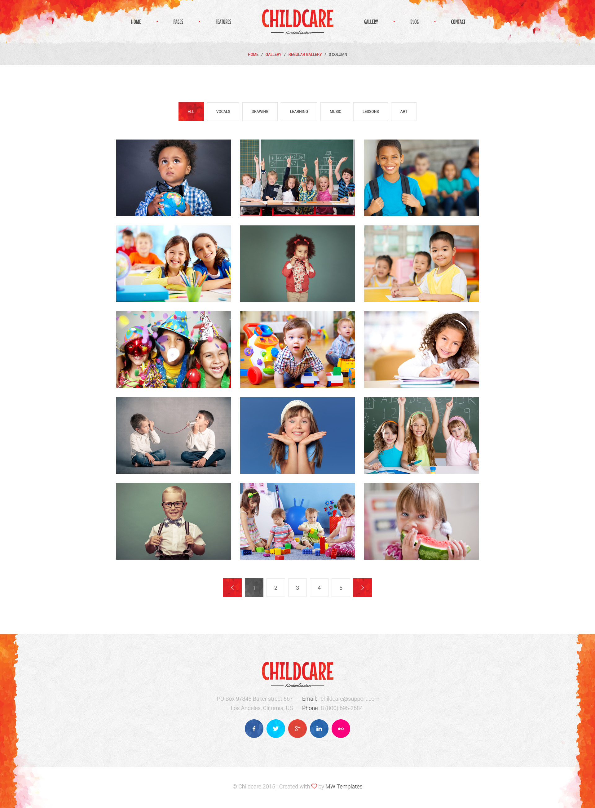 child care children kindergarten psd template by mwtemplates child care children kindergarten psd template
