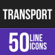 Line Inverted Transport Icons