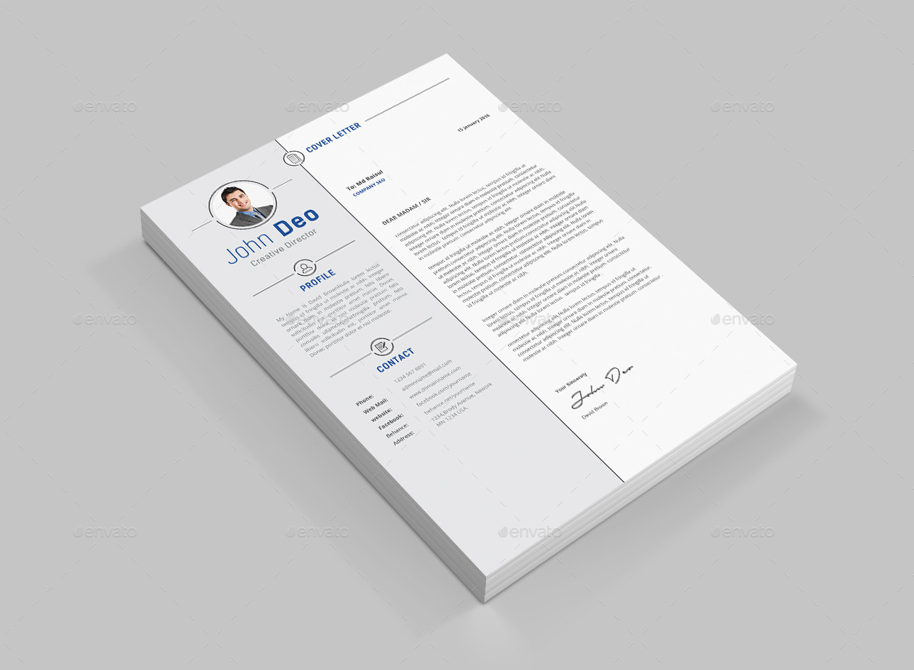 clean resume by themedevisers