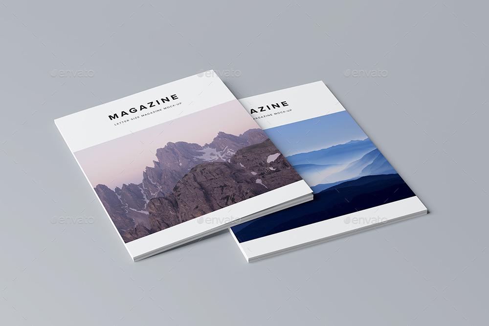 Letter Size Magazine Mock Up By Kotulsky Graphicriver