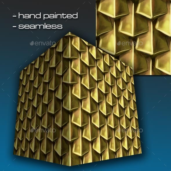 3DOcean Seamless Hand Painted Golden Scale Mail 1 12810582