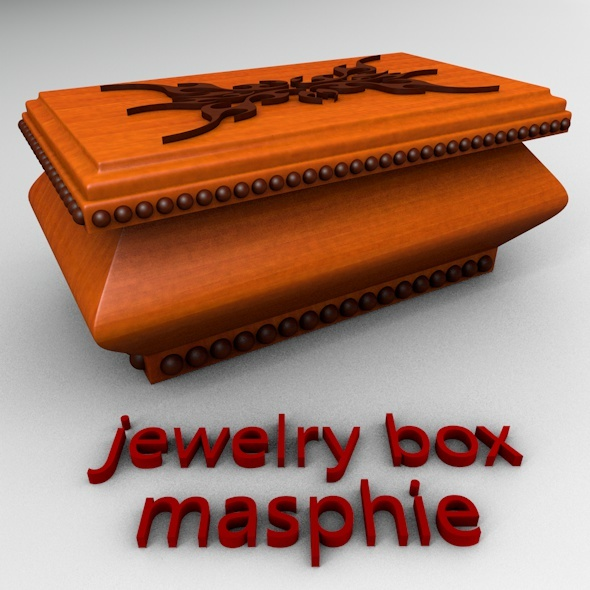 Rectangular Jewelry Box  - 3DOcean Item for Sale