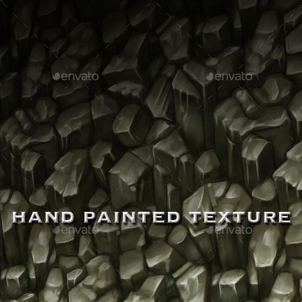 Seamless Hand Painted Rough Rocks Texture - 3DOcean Item for Sale