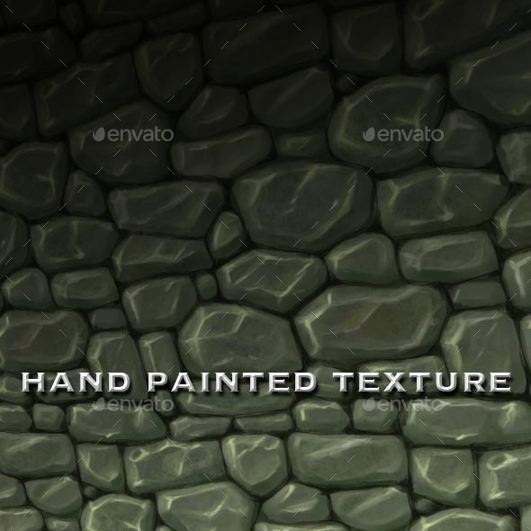 3DOcean Seamless Hand Painted Rough Stone Wall Texture 12810767