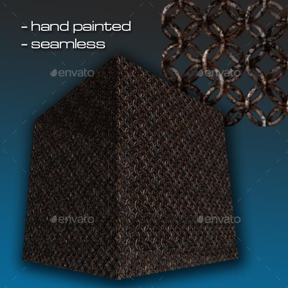 Seamless Hand Painted Rusty Chain Mail - 3DOcean Item for Sale