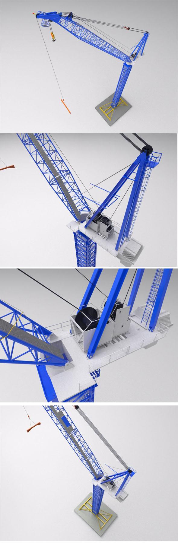3DOcean Favelle Favco M1280D TOWER crane 12811474
