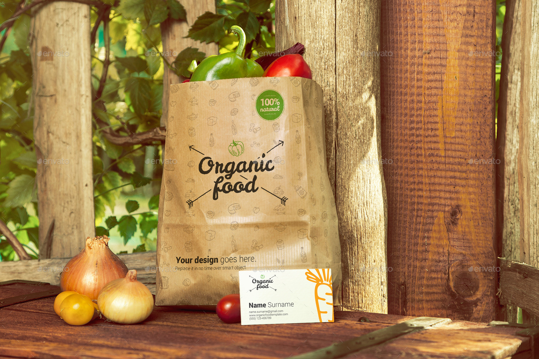 Organic Food Photo Mockup Vegetables By Creativeform