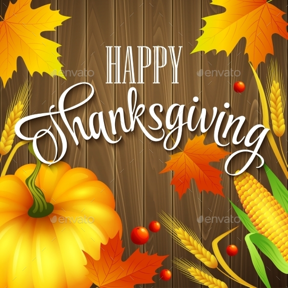 Thanksgiving Greeting Card with Leaves
