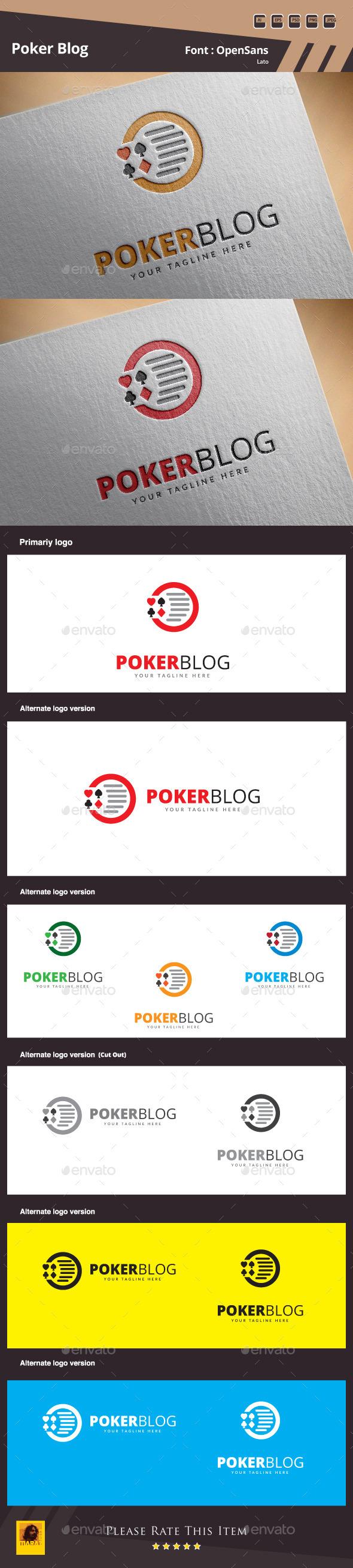 Poker Blog Logo Template