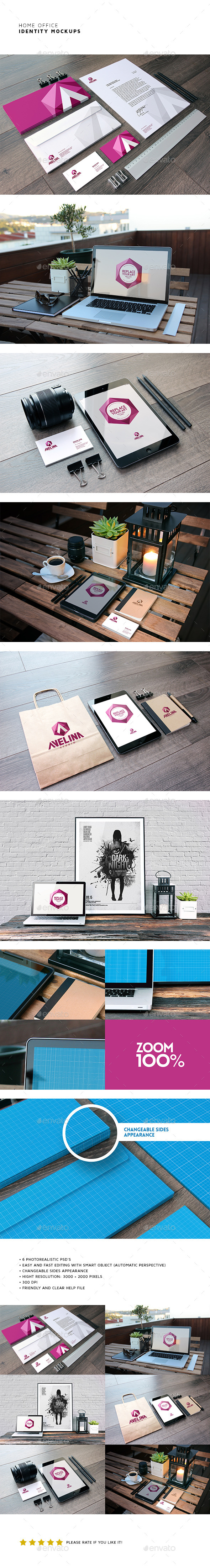 Coffee Cafe Branding Identity Mockup (Stationery)