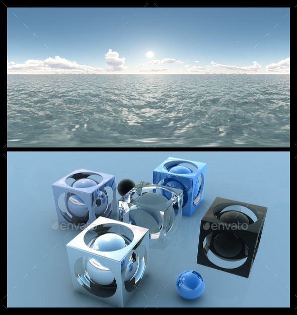 Ocean Blue Clouds 5 - HDRI - 3DOcean Item for Sale