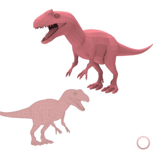 Allosaurus Base Mesh - 3DOcean Item for Sale