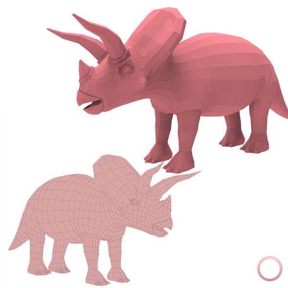 3DOcean Triceratops Base Mesh 12816393