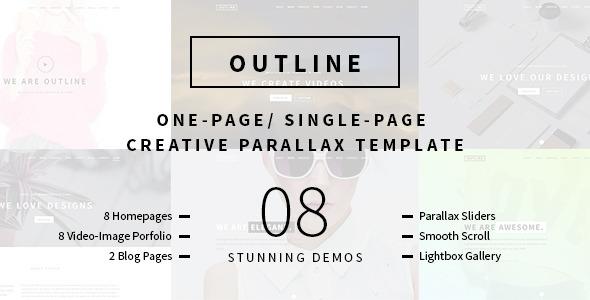 Outline – Creative One Page/Single Page Portfolio