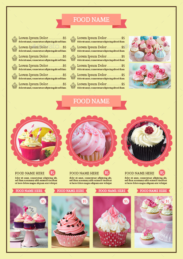bifold cupcake menu template vol 2 by avindaputri graphicriver. Black Bedroom Furniture Sets. Home Design Ideas