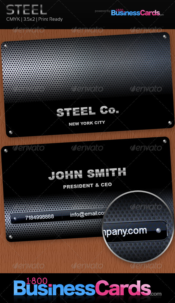 Steel Business Card - Creative Business Cards