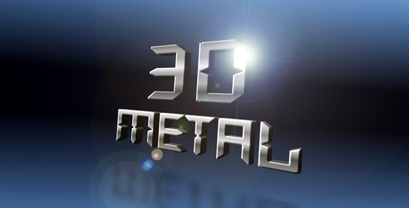 After Effects Project - VideoHive 3D Metal Flip Title 154461