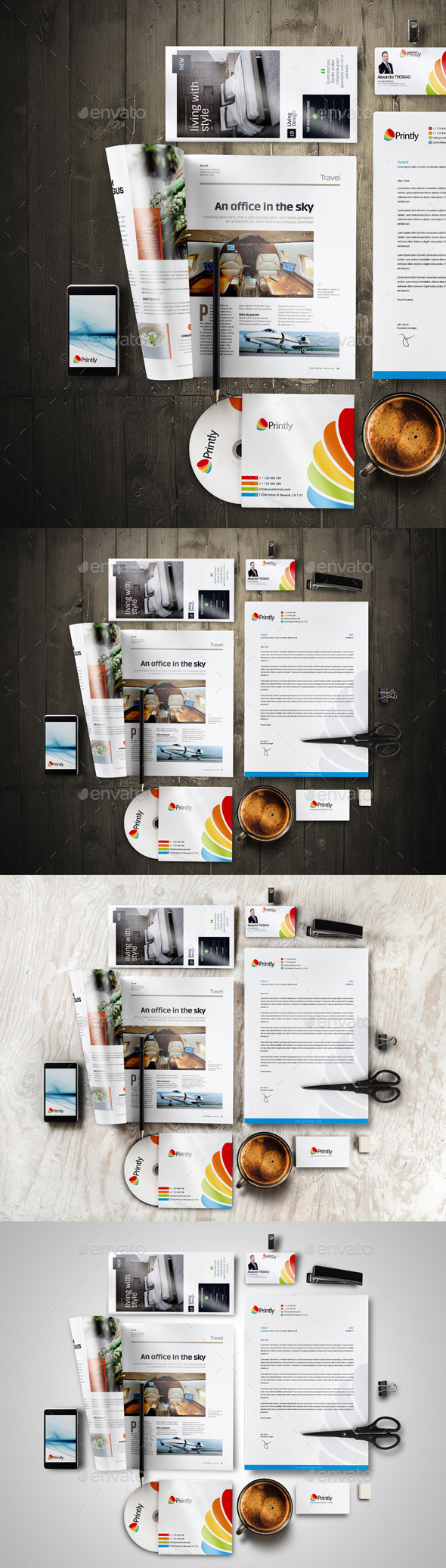 Stationery Mock-up Pack Vol.1 (Stationery)