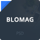 BloMag PSD Template - Exclusively for Marketers