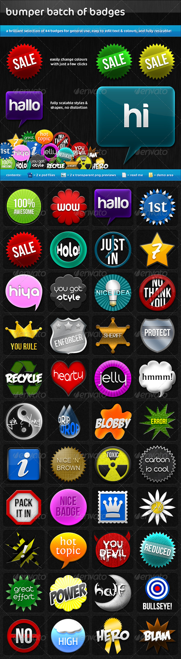Bumper Batch of Badges - Badges & Stickers Web Elements