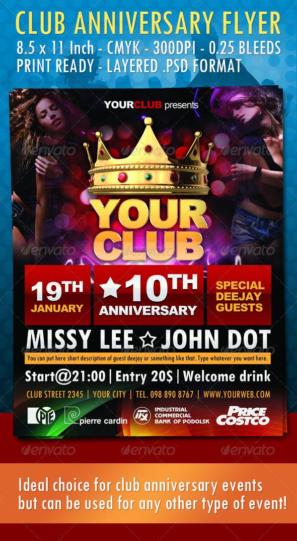 GraphicRiver Club Anniversary Flyer 1284273