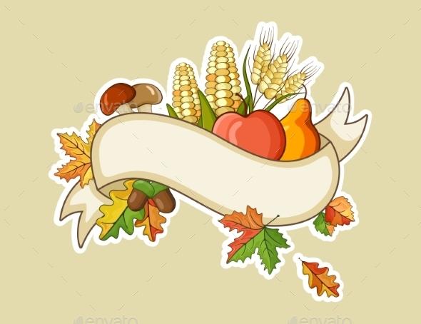 Harvest Thanksgiving Flat Banners