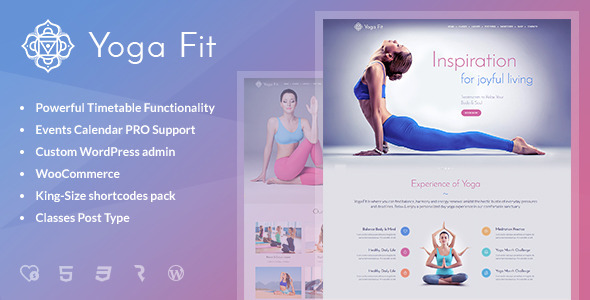 4 - Yoga Fit - Sports, Fitness & Gym WordPress Theme
