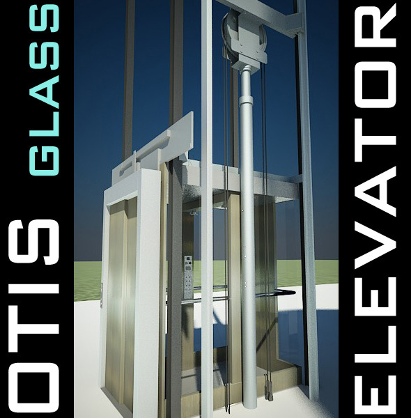 Elevator Lift 3D Model produced by OTIS - 3DOcean Item for Sale