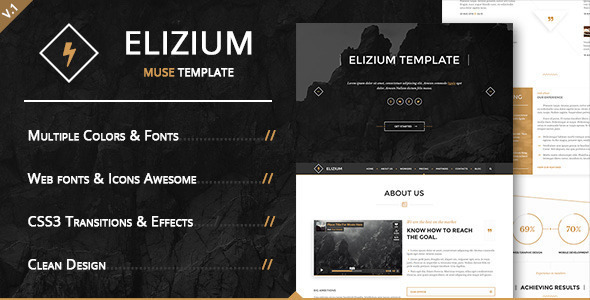 Elizium - Landing Page Muse Template