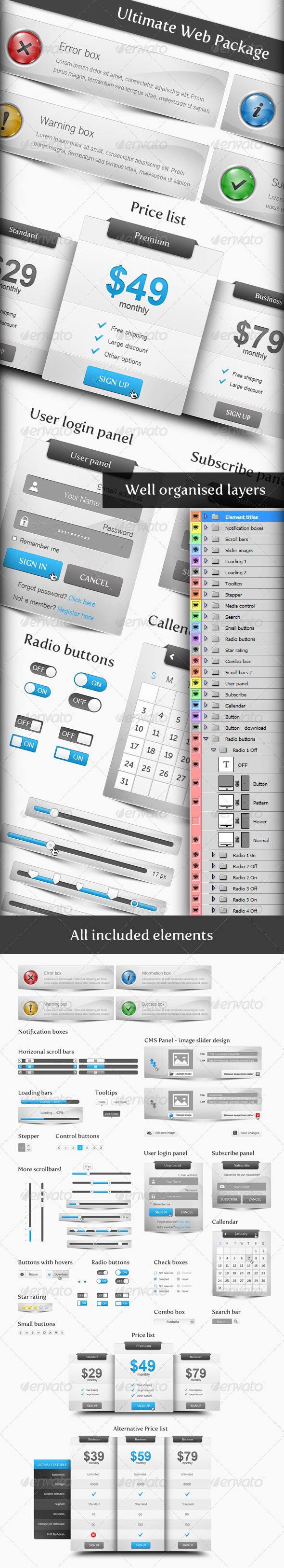 GraphicRiver Ultimate Web Package 154555