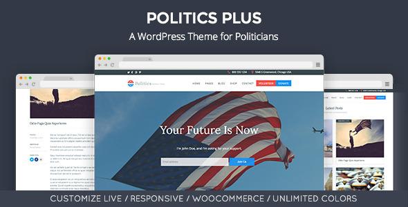 26 - Politics Plus: Government Campaign WordPress Theme