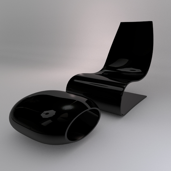 3DOcean Modern Chair & Footrest 1284388