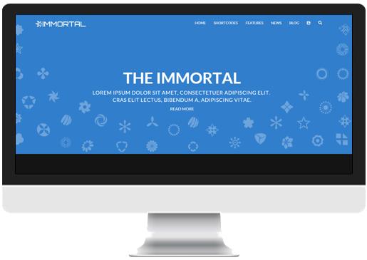 Blue Color Single Page website Header