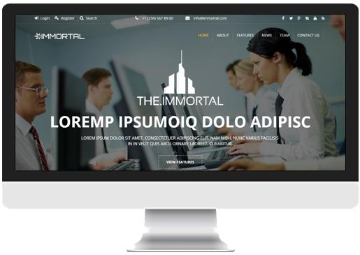 Transparent Single Page website Header