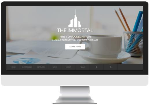 Parallax Website Template Header