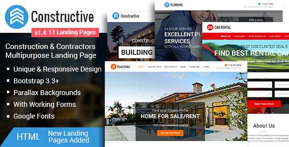 Image of Constructive-Contractors Multipurpose HTML Landing Page