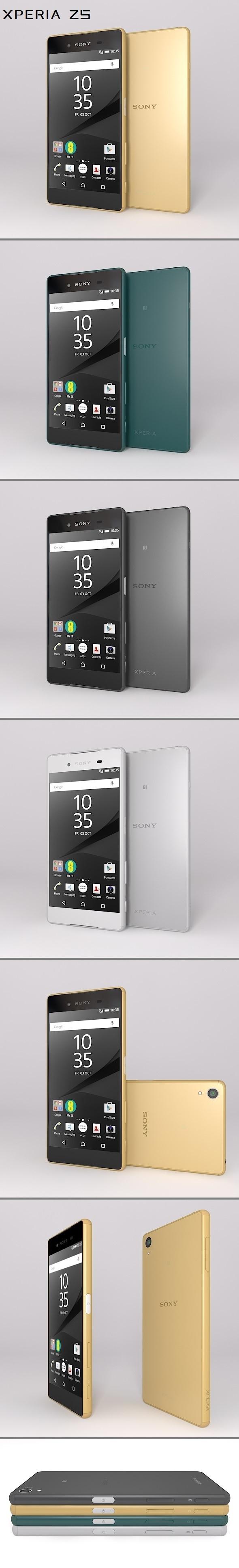 Sony Xperia Z5 - 3DOcean Item for Sale