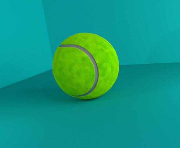 3DOcean Tennis Ball 3D Model 12833349