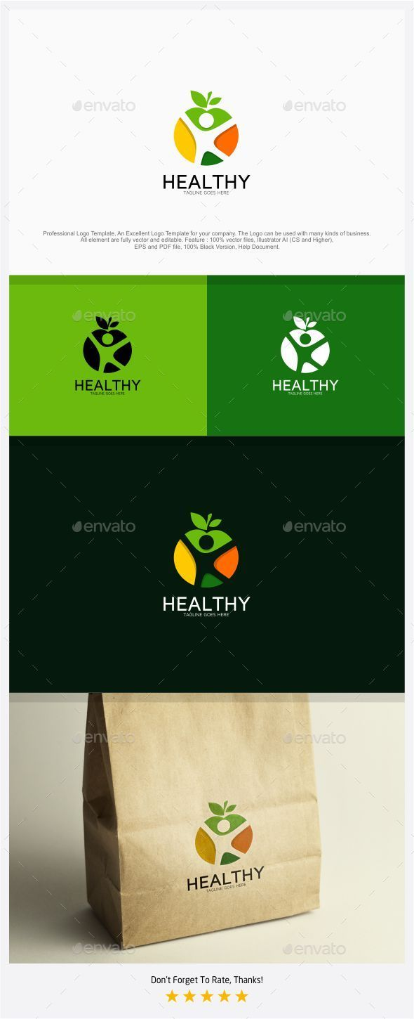 Healthy Food and Body Logo