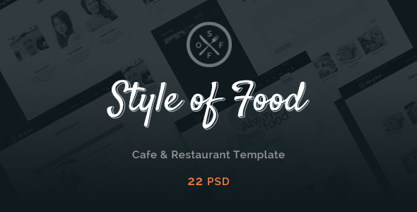 Style of Food - Restaurant & Cafe PSD Template