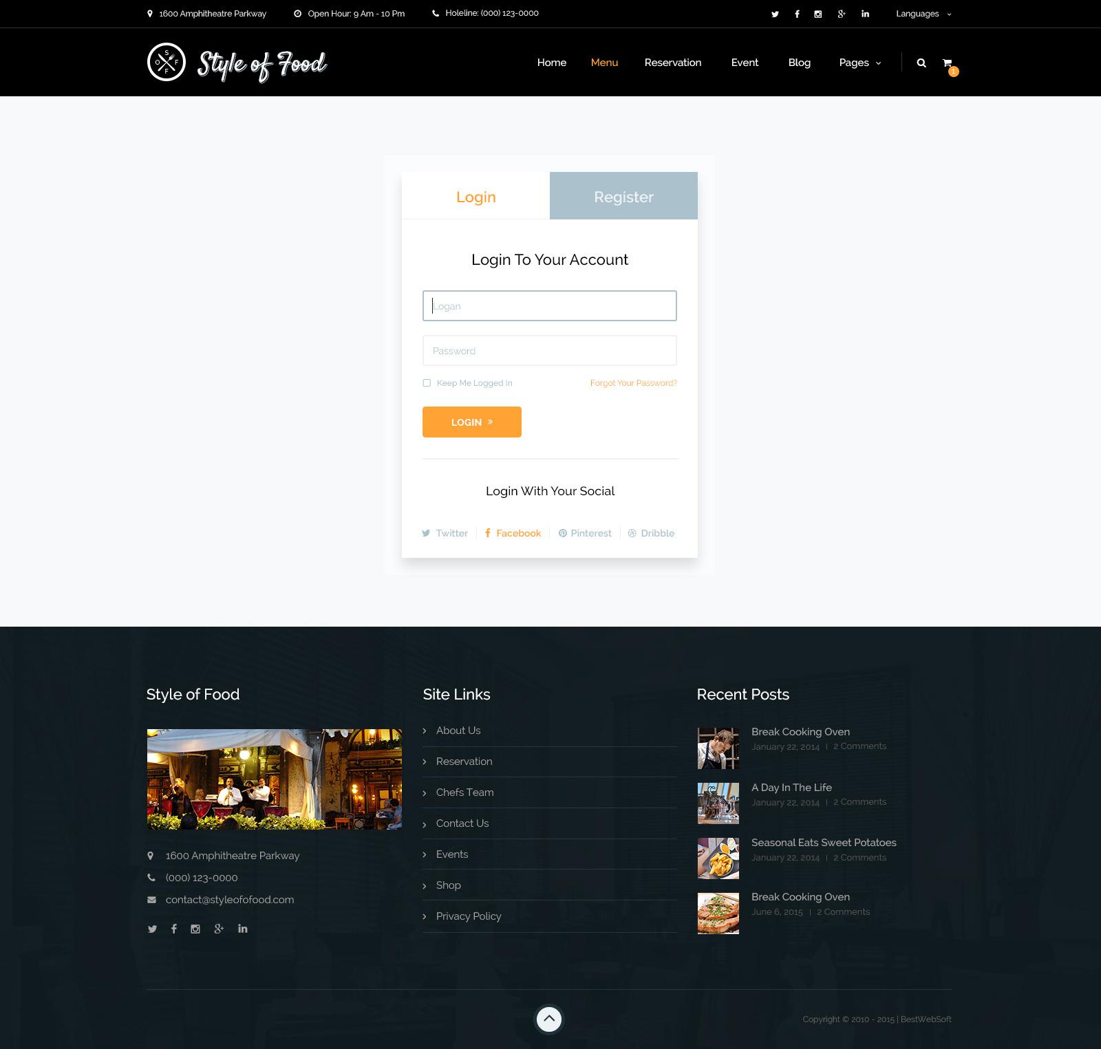 Restaurant.com Account Login