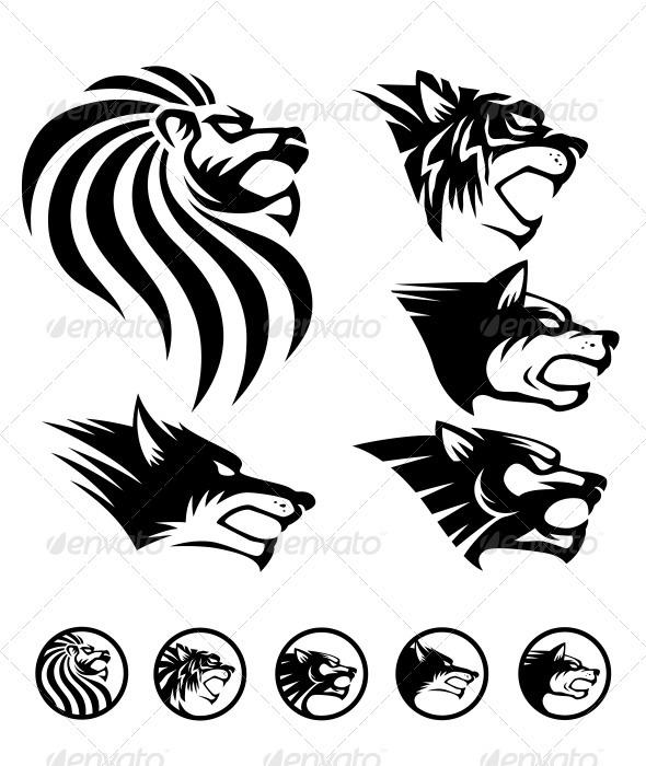 GraphicRiver Wild Beast Symbol 1285080