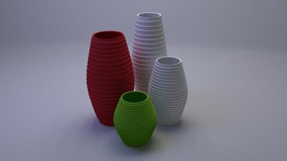 3DOcean Interior Vases Pack 12838062