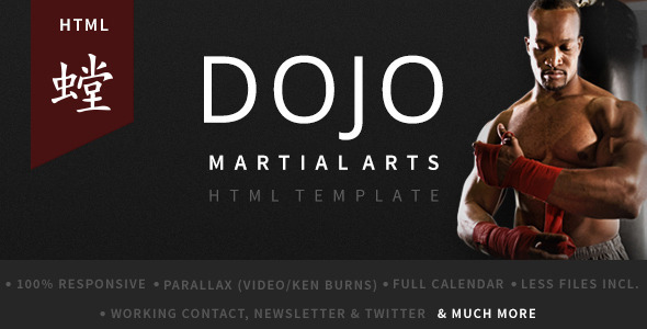Dojo Martial Arts HTML Template