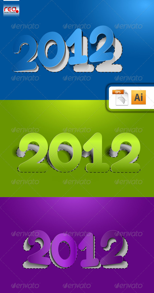 New Year 2012 Design - New Year Seasons/Holidays